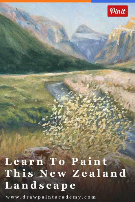 Learn To Paint This New Zealand Landscape