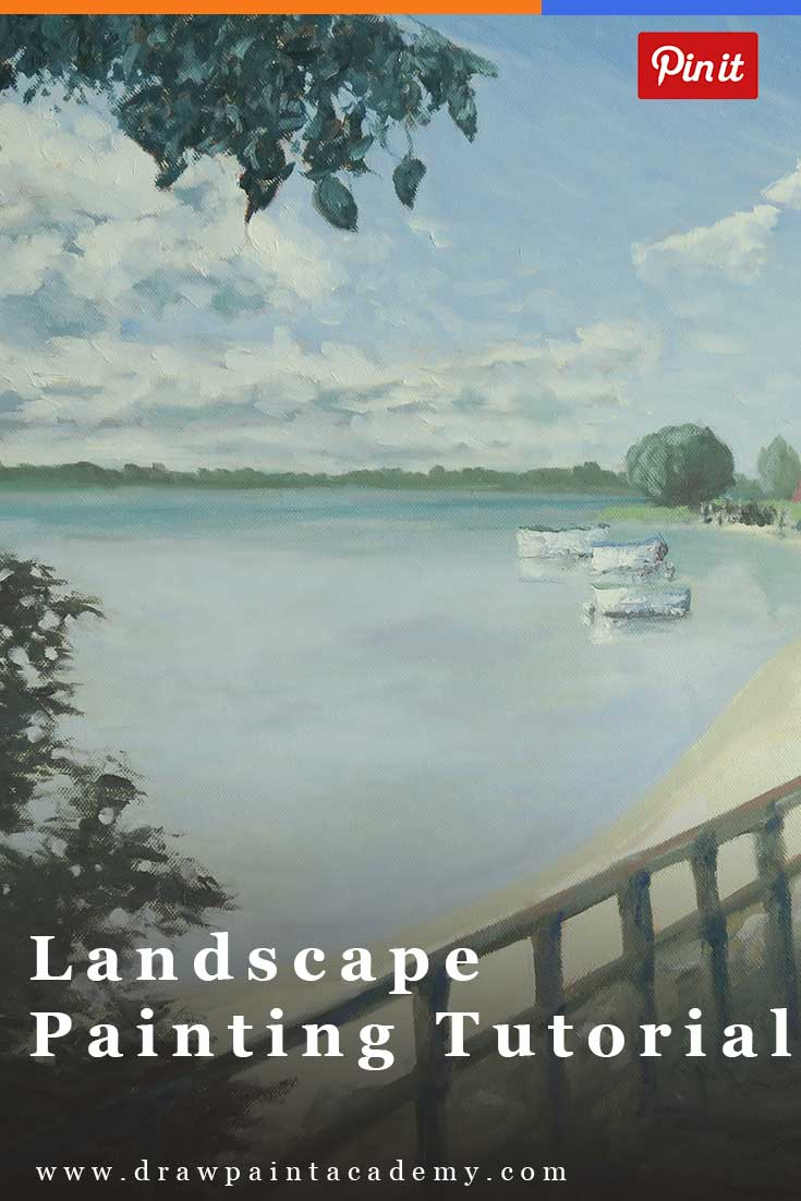 Free Landscape Painting Tutorial In Oils. Learn how to paint this Caloundra landscape from start to finish.