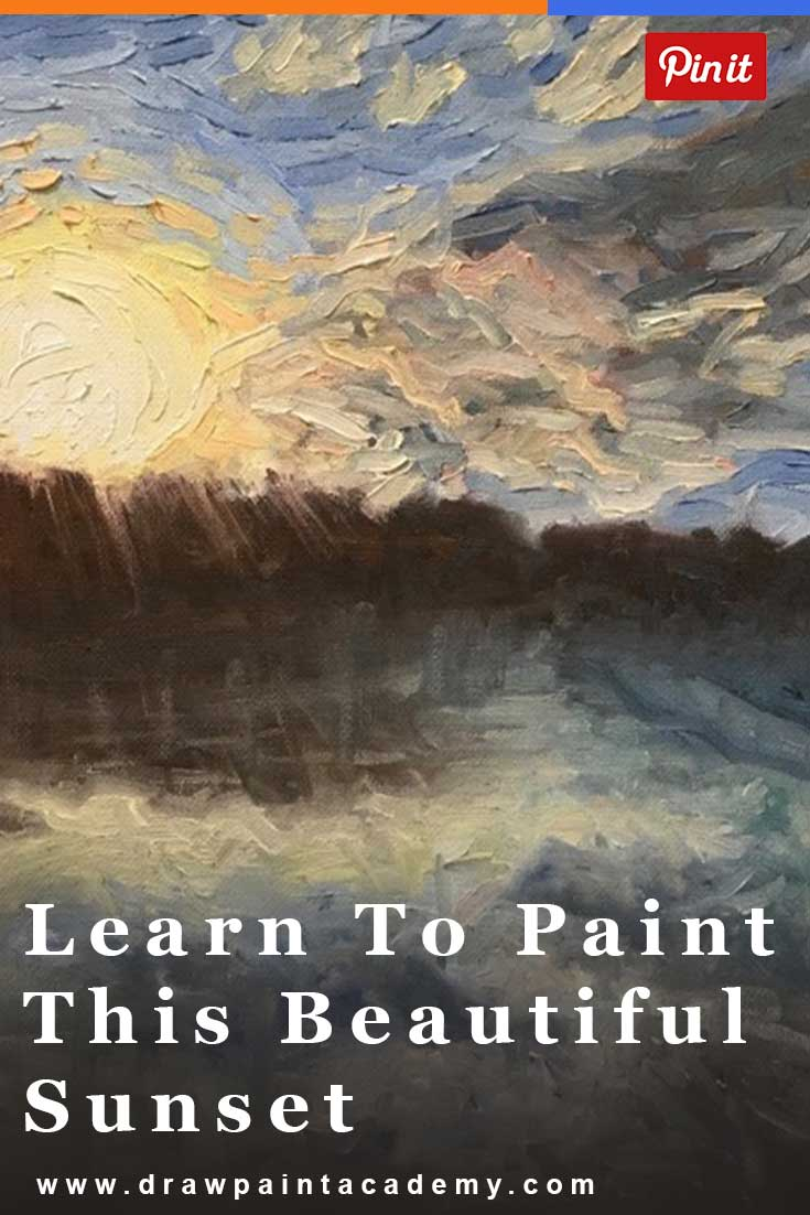Step By Step Free Oil Painting Lesson - Noosa At Sunset. Learn how to paint this beautiful Noosa sunset using oils. This is a perfect tutorial for beginners.