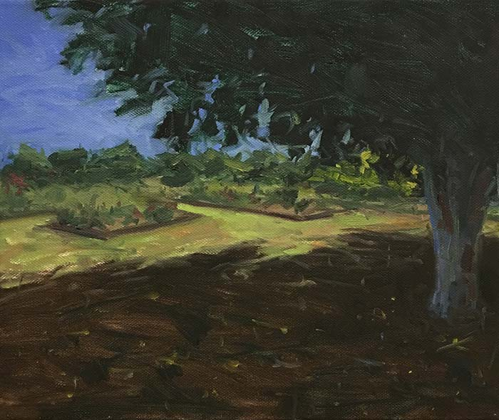 New Farm Park, 10x12 Inches, Oil On Canvas