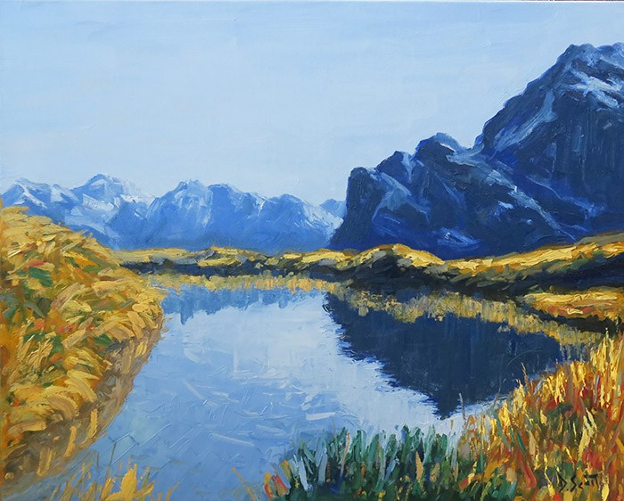 New-Zealand-Reflection-24x30-Inch-Oil-On-Canvas-700W-WEB