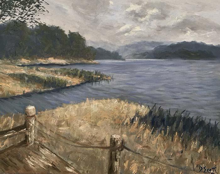 Secrets On The Lake, Oil On Canvas, Daniel Scott