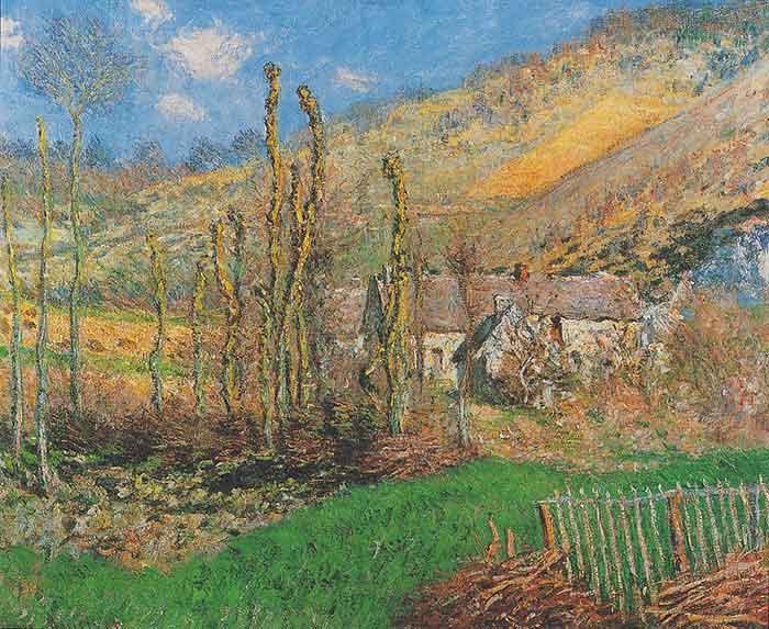 Claude Monet, Winter Landscape at the Val de Falaise (Giverny), 1885
