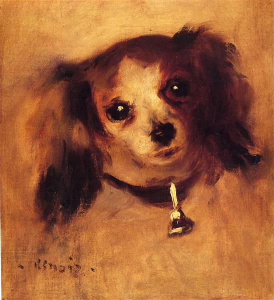 Head of a Dog, Pierre-Auguste Renoir, 1870