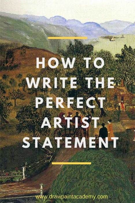 How To Write The Perfect Artist Statement