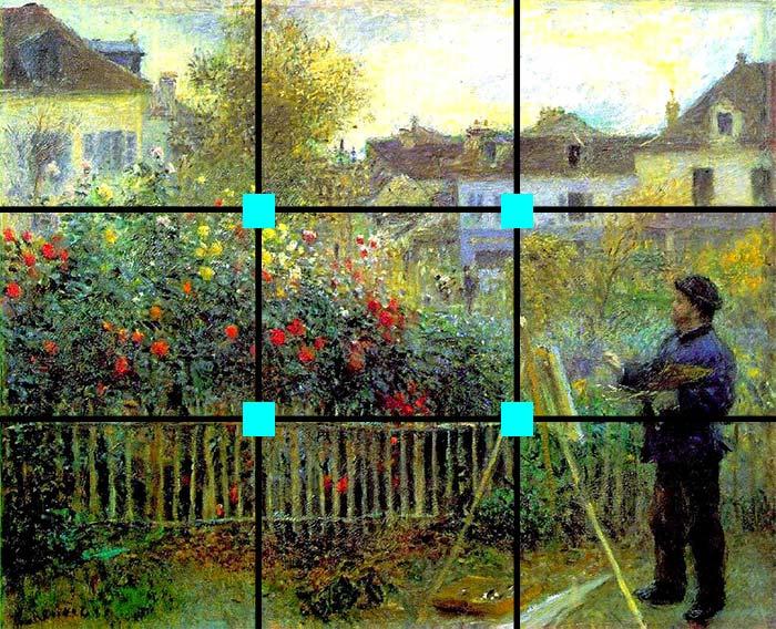 Monet painting in his garden at Argenteuil, Pierre-Auguste Renoir, 1873
