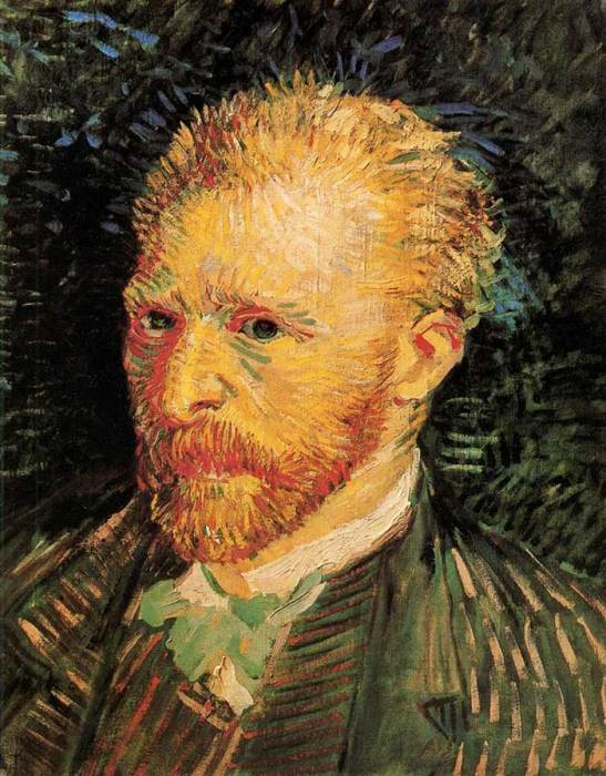 16. Vincent van Gogh, Self-Portrait, 1887