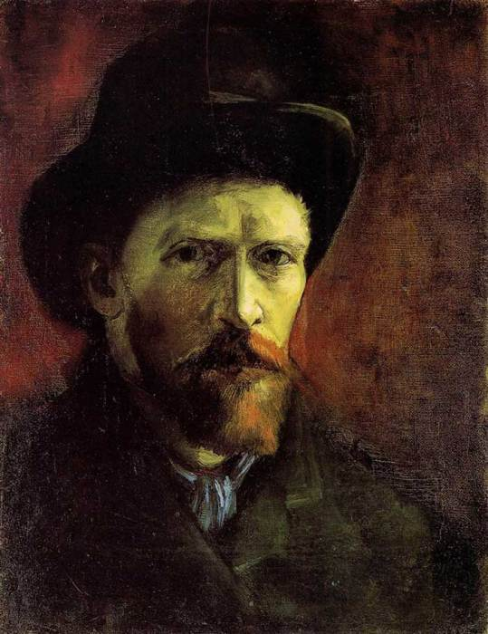 4. Vincent van Gogh, Self-Portrait With Dark Felt Hat, 1886