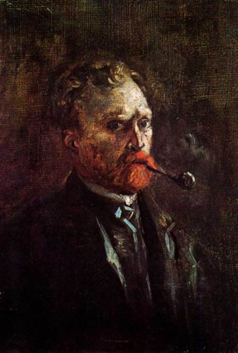 6. Vincent van Gogh, Self-Portrait With Pipe, 1886
