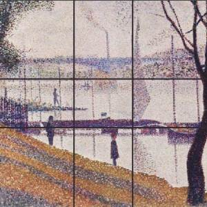 Georges Seurat, Bridge at Courbevoie, 1887