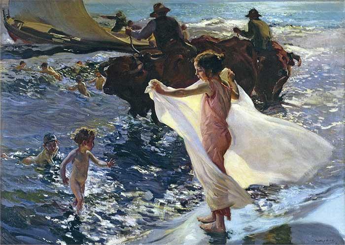 Joaquin Sorolla, Bathing Time, 1904