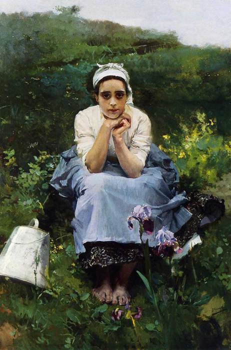 Joaquin Sorolla, The Milkmaid, Date Unknown