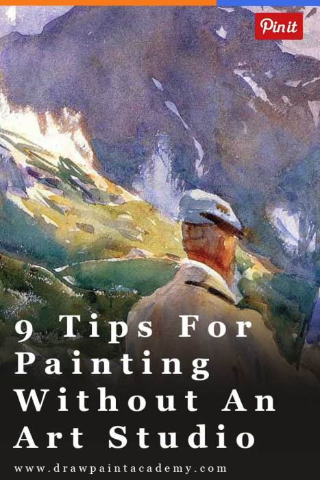How To Paint Without An Art Studio