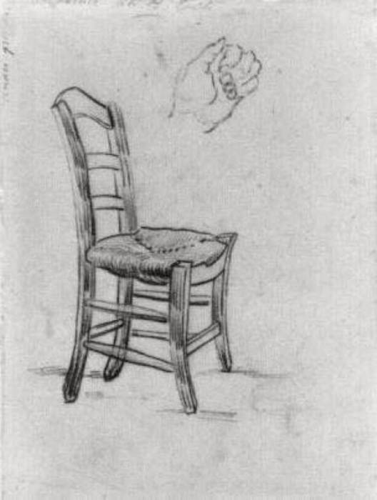 Vincent van Gogh, Chair And Sketch Of A Hand, 1890