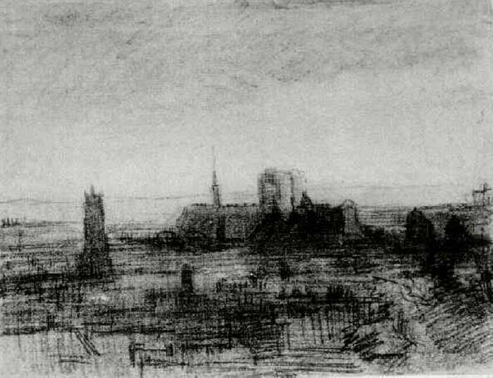 Vincent van Gogh, The Roofs Of Paris And Notre-Dame, 1886