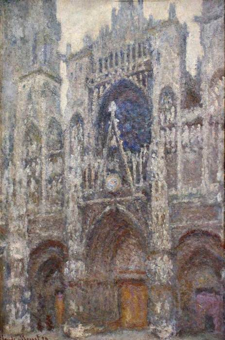 11. Claude Monet, Rouen Cathedral, Grey Weather, 1894