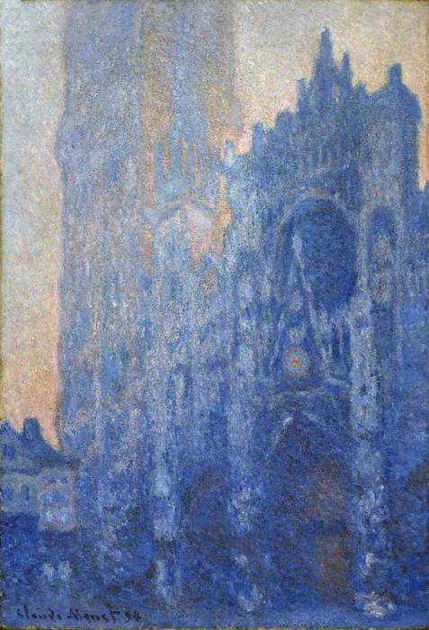 21. Claude Monet, Rouen Cathedral, The Portal And The Tower d'Albane At Dawn, 1894