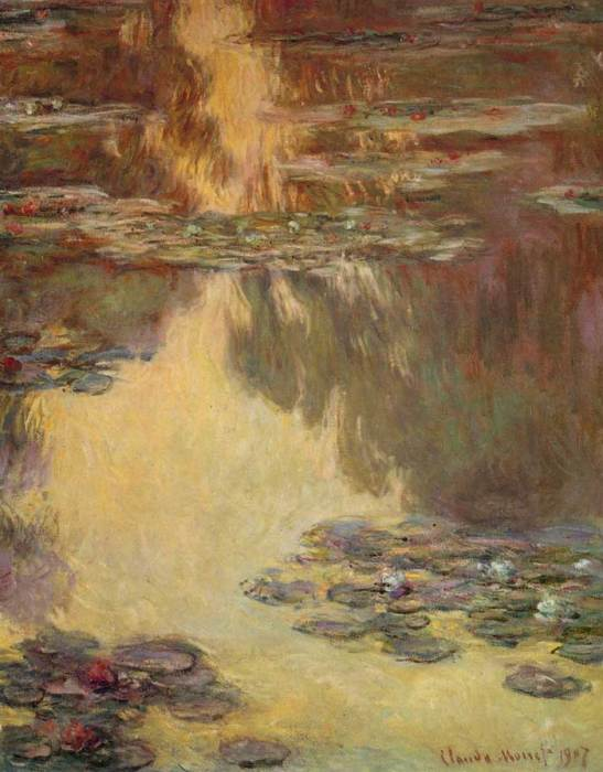 22. Claude Monet, Water Lilies, 1907