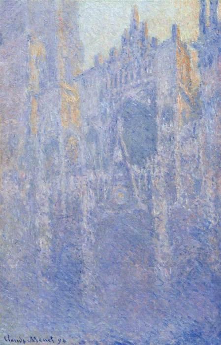 25. Claude Monet, Rouen Cathedral, The Portal, Morning Fog, 1894