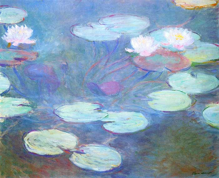5. Claude Monet, Water Lilies, Pink, 1897-1899