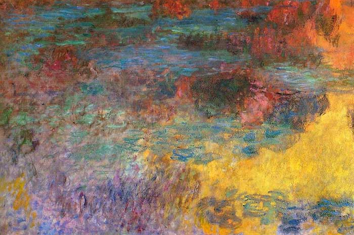 51. Claude Monet, Water Lily Pond, Evening (left panel), 1920-1926