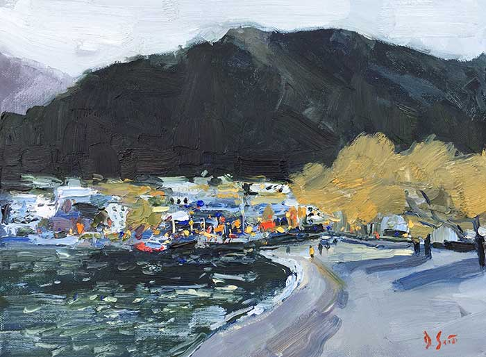 Painting Tutorial – Queenstown From The Shore