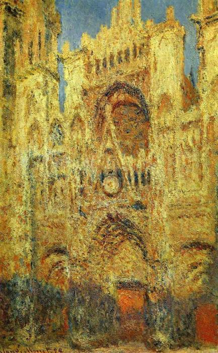 8. Claude Monet, Rouen Cathedral At Sunset, 1894