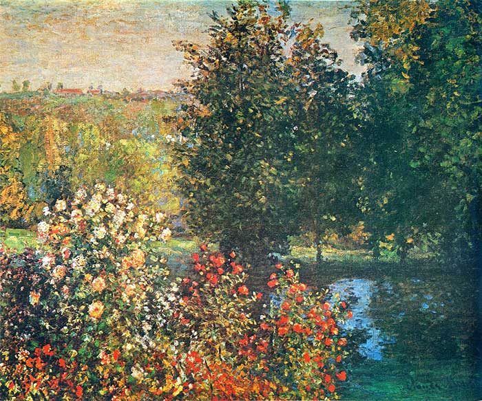 Claude Monet, Roses In The Hoshede's Garden At Montregon, 1876
