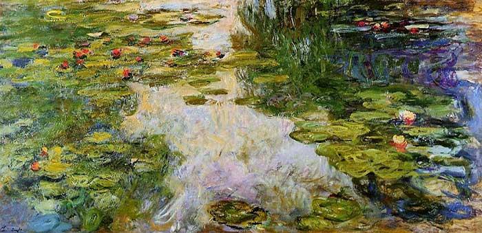 Claude Monet, Water Lilies, 1917-1919
