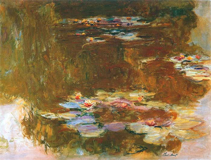 Claude Monet, Water Lily Pond, 1917