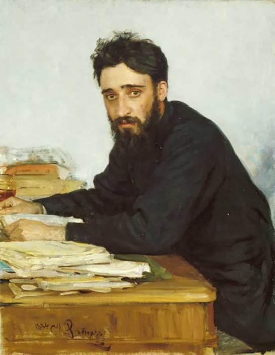 Ilya Repin, Portrait Of Writer Vsevolod Mikhailovich Garshin, 1884
