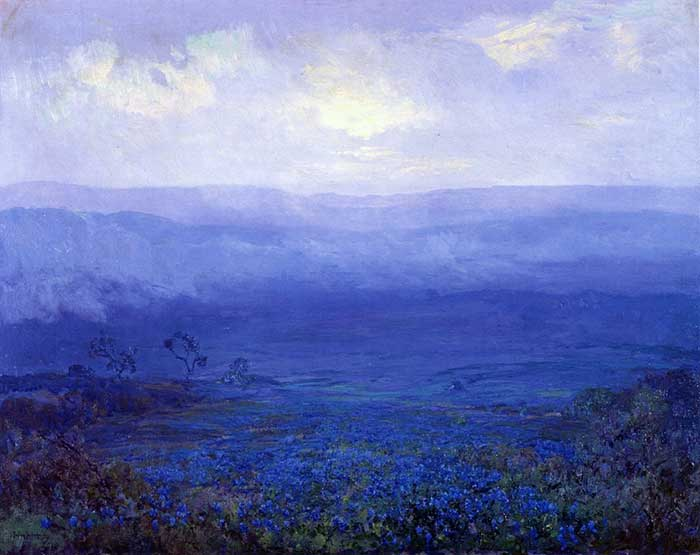 Robert Julian Onderonk, Bluebonnets In Texas, 1915