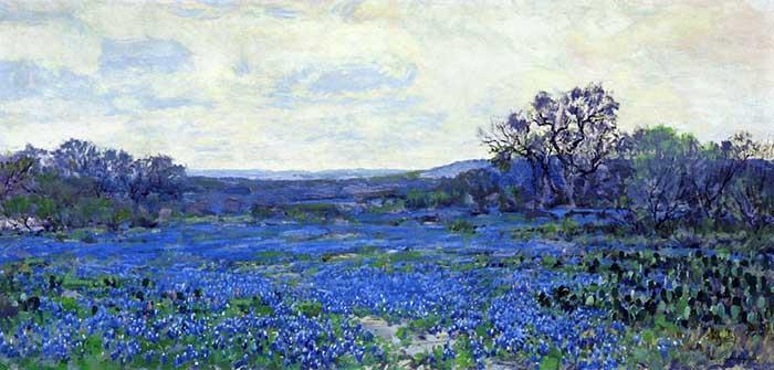 Robert Julian Onderonk, Field Of Bluebonnets, Date Unknown