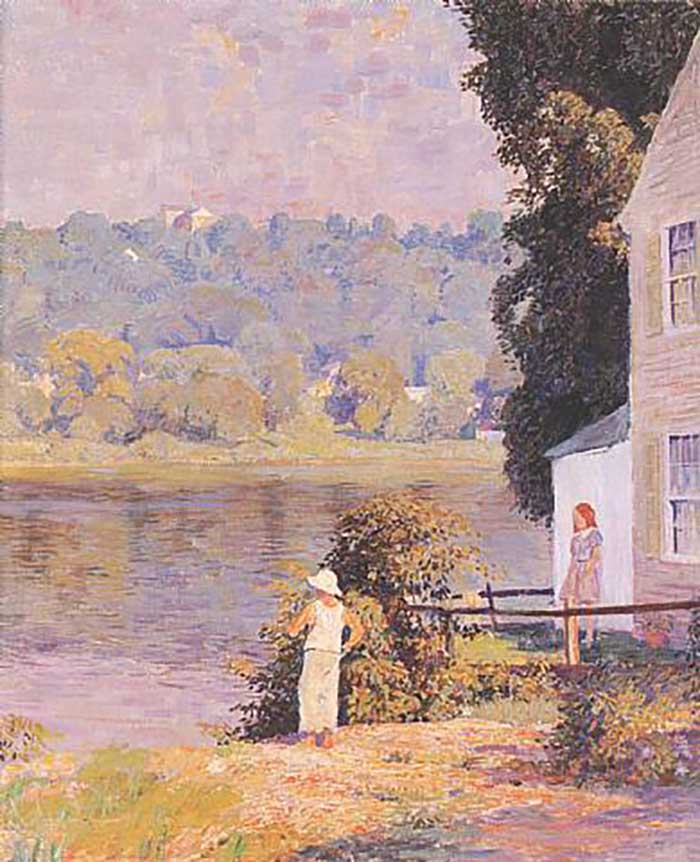 Daniel Garber, Beside The River, 1940