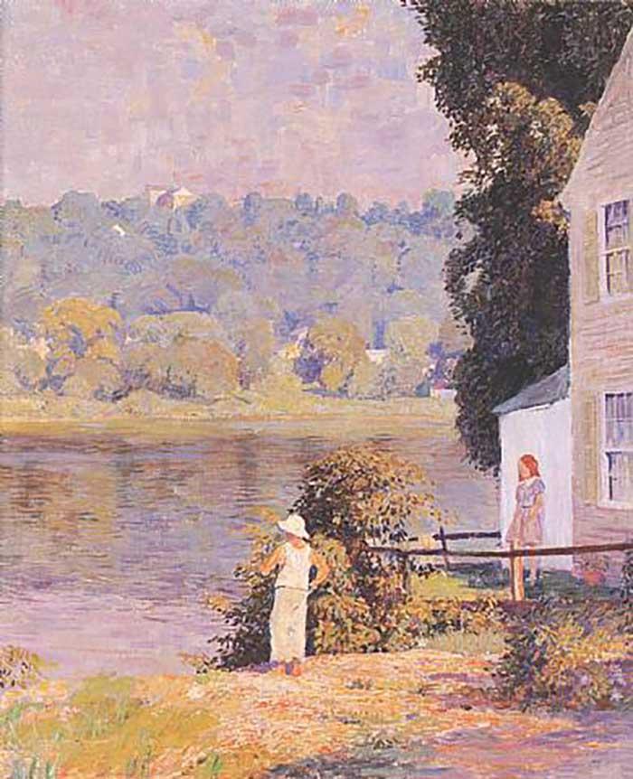 Daniel Garber, Beside The River, 1940