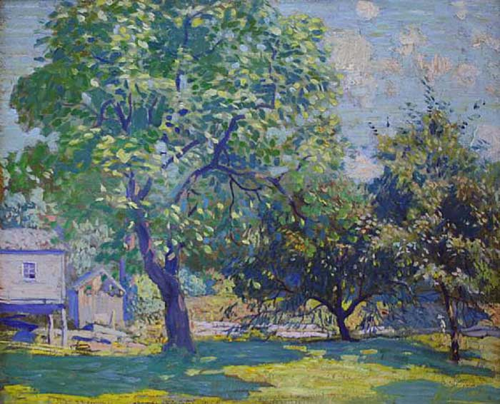 Daniel Garber, Catalpa Tree-Sketch