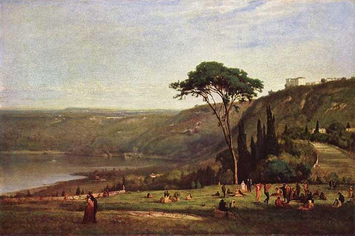 George Inness, Lake Albano, 1869