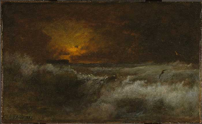George Inness, Sunset Over The Sea