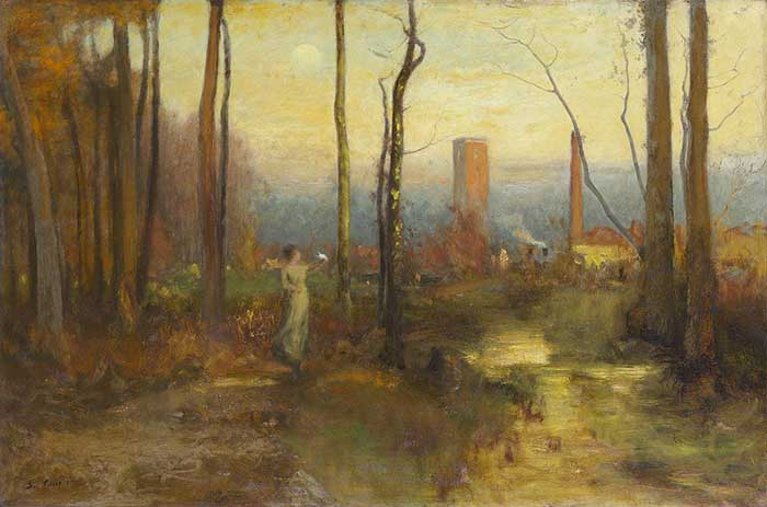 George Inness, The Mill Stream, Montclair, New Jersey, 1888