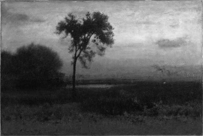 Grayscale, George Inness, Brooklyn Museum