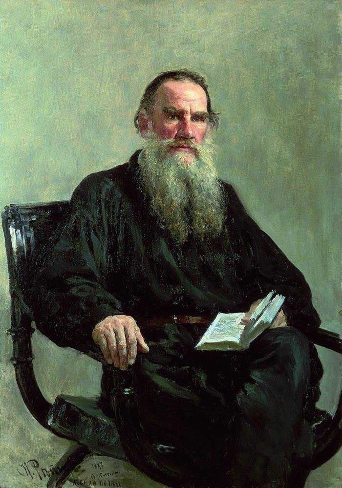 Ilya Repin, Portrait Of Leo Tolstoy, 1887