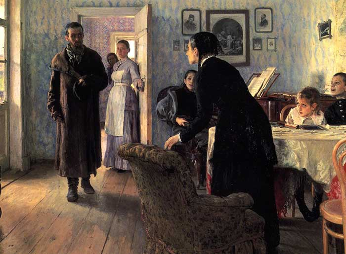 Ilya Repin, Unexpected Visitors, 1884-1888