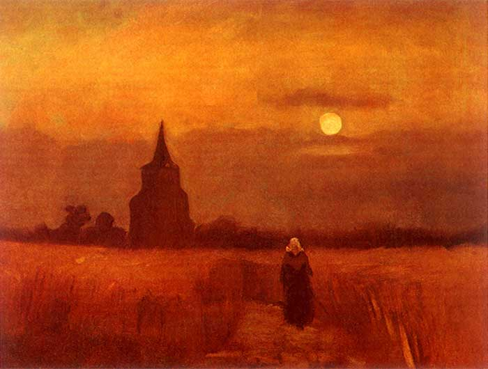 Vincent van Gogh, The Old Tower In The Fields, 1884