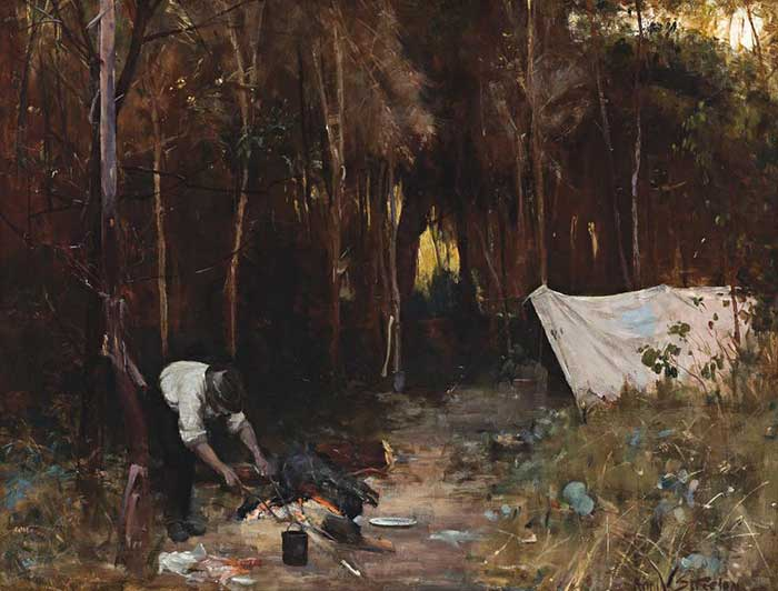 Arthur Streeton, Settler's Camp, 1888