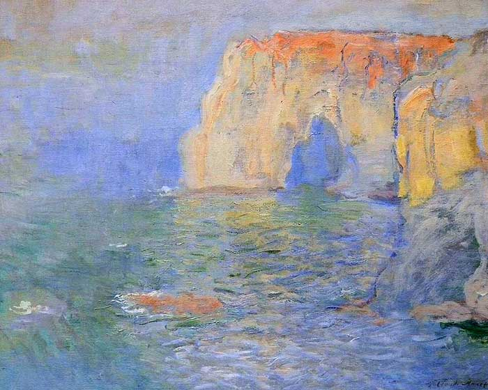 Claude Monet, The Manneport, Reflections Of Water, 1885