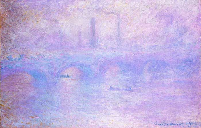 Claude Monet, Waterloo Bridge, Fog, 1903