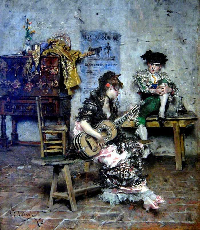 Giovanni Boldini Woman | Portrait Inspiration | Giovanni Boldini, A Guitar Player, 1873