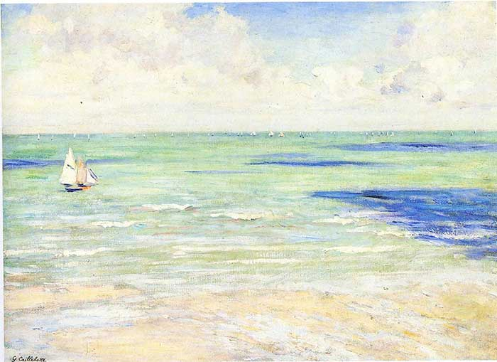 Analogous Color Palette | Gustave Caillebotte, Seascape, Regatta At Villers, 1880-1884