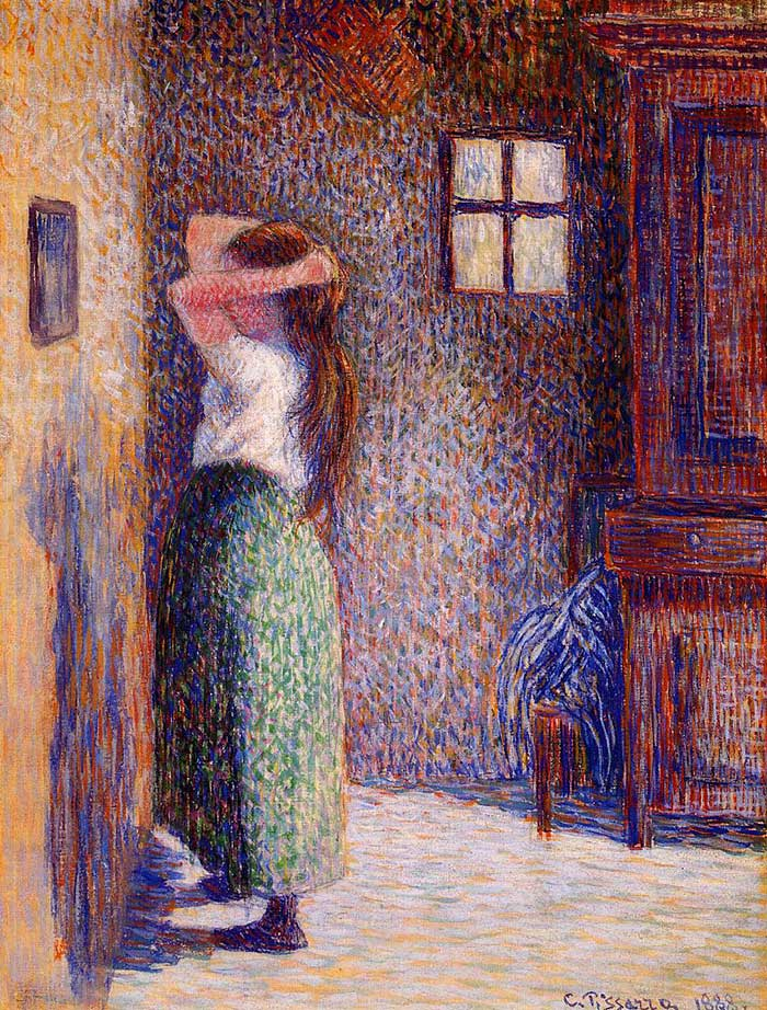 Camille Pissarro, Young Peasant At Her Toilette, 1888