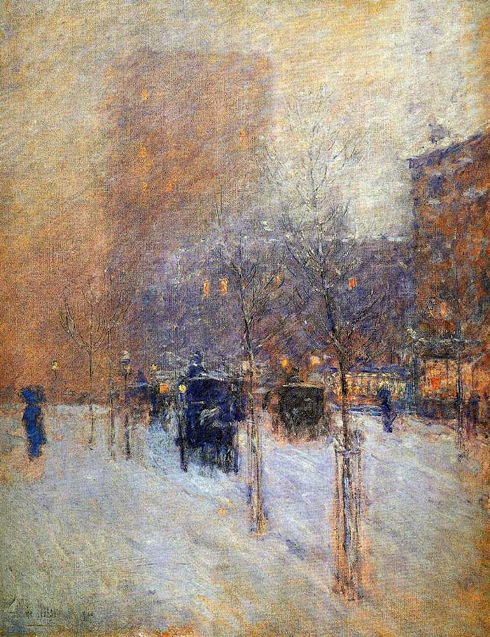 Childe Hassam, Late Afternoon, New York, Winter, 1900